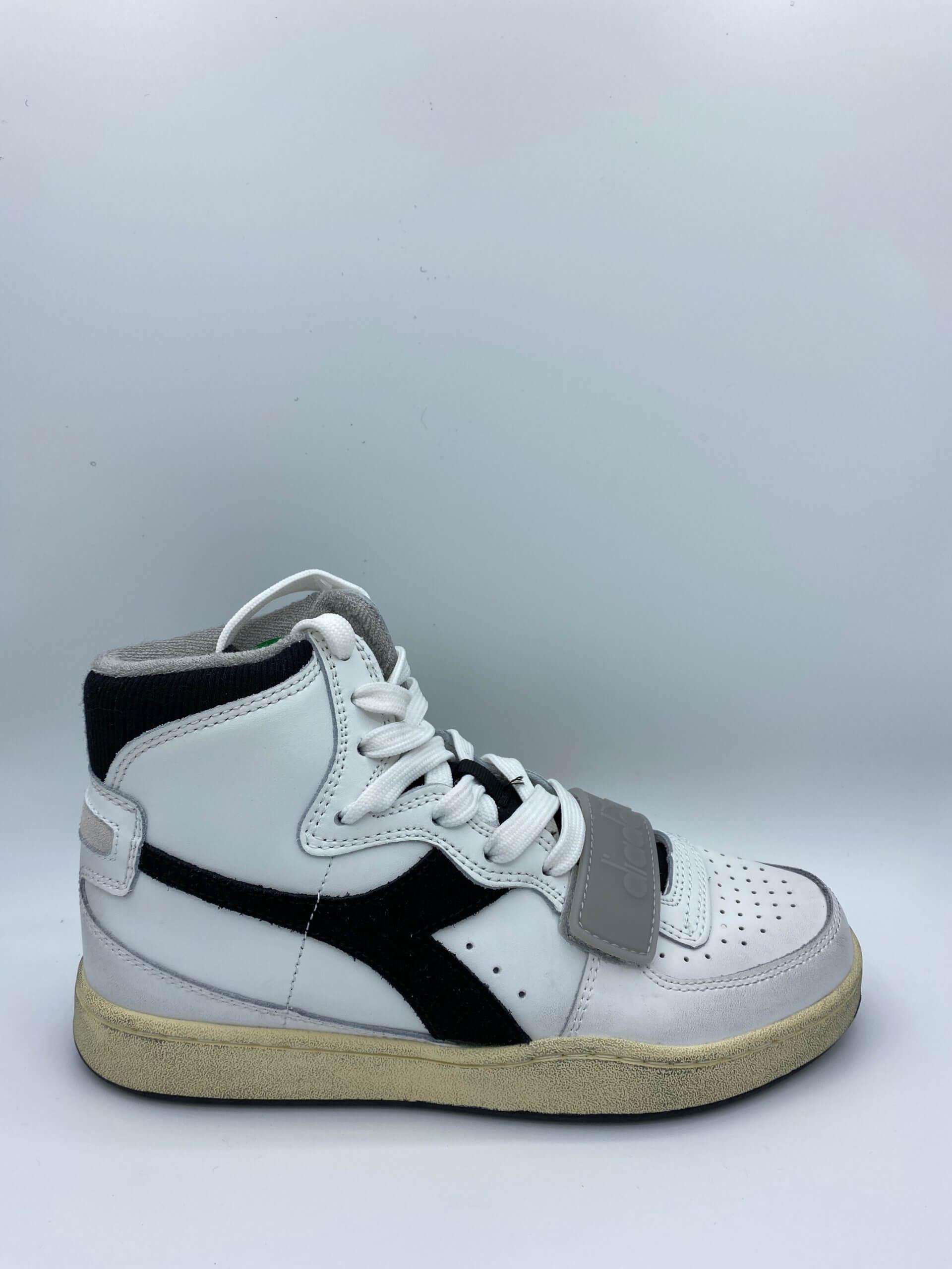 MI Basket Used High Black White